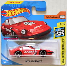 HOT WHEELS 2018 HW SPEED GRAPHICS NISSAN FAIRLADY Z RED SHORT CARD
