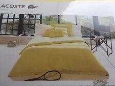 LACOSTE Brushed Twill Solids Lemon Drop Twin Comforter/Edredon Standard MSRP$250