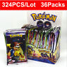 324pcs 36 packs Pokemon Go Carte lot Rare TCG Booster Box English Edition