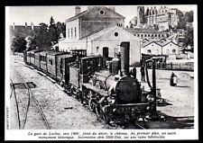 1977  --  TRAIN VAPEUR EN GARE DE LOCHES VERS 1900   3N535