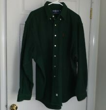 VINTAGE POLO RALPH LAUREN Wool Shirt Jacket Men's  XL Hunter Green Made in USA