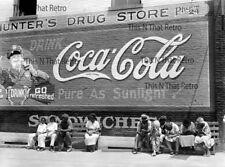 Vintage Photograph Reprint Street Scene  Greensboro Georgia,   Coca-Cola Sign