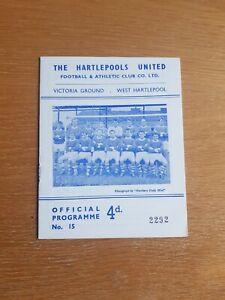 1966/67 Hartlepool v Sheffield Wednesday - Friendly, Brian Clough manager
