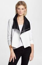 Auth NWT. Veda 'Max' Two Tone Leather Jacket Sz Small $1,045.