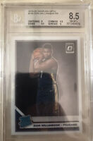 ZION WILLIAMSON 2019 19-20 DONRUSS OPTIC #158 RATED ROOKIE RC BGS 8.5 / 9.5 Subs