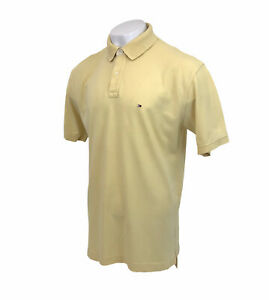 Tommy Hilfiger Yellow Polo Shirt Short Sleeve Sz XL Mens