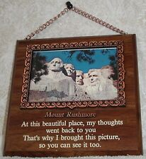 Mount Rushmore Wood Plaque Hanging Chain Mount Rushmore Photo Print