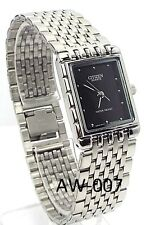 New Citizen Ladies, Silver-tone, Black-dial Dress Watch