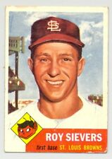 1953 Topps #67 ROY SIEVERS -- St. Louis Browns -- Very Good/Excellent