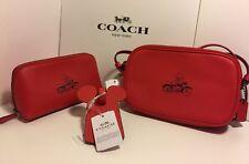NWT Coach x Disney-Mickey Crossbody Pouch + Cosmetic Case + Luggage Tag Set