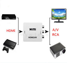 HDMI to RCA Converter AV Composite Adapter for Sony PS3 PS4 PC Laptop Xbox Games