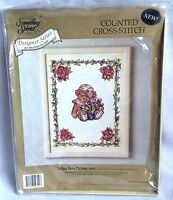 Candamar Designs Counted Cross Stitch Kit Tulips Bear Picture New Sealed
