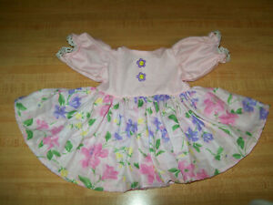 """DRESS Purple+Pink Flowers Skirt/ pink top w/lace trim for 16"""" CPK Cabbage Patch"""