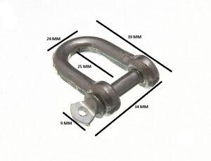 D Lucchetto U Lock e Perno Filo Corda Fermaglio 6mm 1/4 BZP Confezione Misura 6