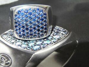 DAVID YURMAN Blue sapphire Ring sterling silver Size 8