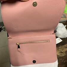 Tory Burch F Convertible  Clutch Leather TB Logo Pink 2018