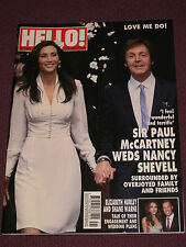 "BEATLES: PAUL McCARTNEY & NANCY SHEVELL WEDDING ""HELLO!"" MAGAZINE OCT. 2011"