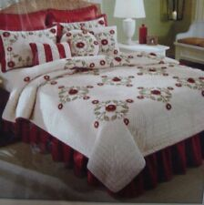Noble Excellence Arquette Choose Queen* King Burgundy Black Floral Bed Skirt New