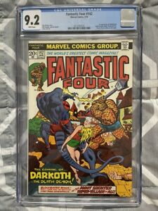 FANTASTIC FOUR #142 CGC 9.2  1ST APPEARANCE DARKOTH WHITE PAGES