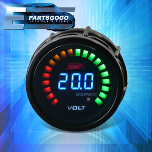 "For Mazda Miata RX7 2"" 52MM JDM Voltage Volt Blue Digital LED Auto Gauge Meter"