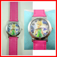 NEW Tinkerbell Girl Lady Child Kids Fashion Quartz Pink Wrist Watch Wristwatch