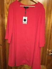 Ladies Dress Size 2 XL Luna Allegra Firenze New Tags Red Bell Sleeves