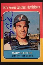 Gary Carter (d.2012) 2002 Reprint 1975 TOPPS LEGENDS Autographed Signed Card 16I