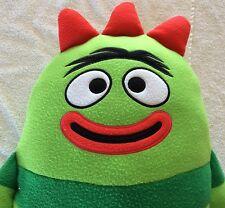 """Lg 24"""" Yo Gabba Gabba Brobee Green Plush Stuffed Animal Pillow Plush Toy- used"""