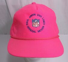 Vintage Neon Pink rope SnapBack Hat Paul Arpin Van Lines Mover of NFL Football
