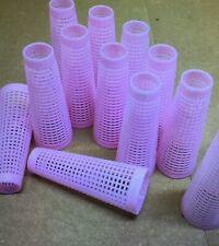 12 Pale Pink Plastic Cones.Yarn/Wool Winding.Xmas Crafts/Angels.Nurseries/School
