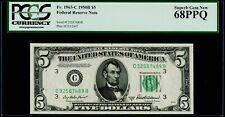 $5 1950B Federal Reserve Note Philadelphia PCGS Superb Gem New 68 PPQ