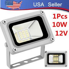 12V DC LED Flood Light 10Watt Outdoor Waterproof Security Lamp Cool White IP65