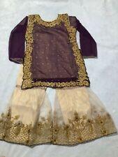 Girls/kids Chiffon embroidery shirt with garara pant party wear 7-10 years