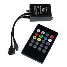 Music Sound Activated RGB LED Controller for Light Strip Remote Control Stylish