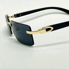 Mens Sunglasses Shades Migos Buffs Rap Style New Model Fashion Black Lens Gold