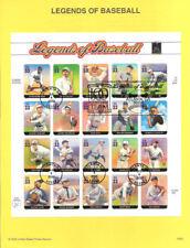 #0020 Legends of Basball MS20 #3408 Souvenir Page