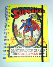 SUPERMAN A5 JOURNAL NOTEBOOK Lined SPIRAL Elastic DC COMICS Man O Steel HARDBACK