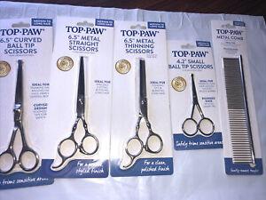 Top Paw Set Metal Thinning Pet Scissors Medium-Long Hair Sealed
