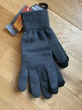 Marks Spencer Mens Touchscreen Grey Knit Gloves Thermowarmth lining One Size