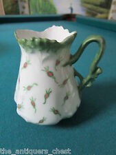 Mignon Z.S. & C Bavaria, Germany, creamer decorated with green flowers[99]