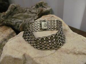 Vintage Gorgeous 925 Sterling Silver Linked Wide Bracelet 36.5g