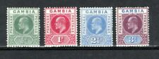 More details for gambia 1904-06 values to 3d mlh/mh