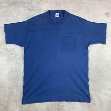 New listing Xl Bvd Pocket T Shirt Basic Blank Blue 90s Usa Vtg Tee Plain
