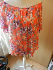 Maternity Coral Floral Bardot Top  size 12
