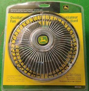 John Deere 12V Oscillating Fan for Riding Mower Tractor with CargO Mount -NEW!