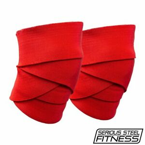 Serious Steel Fitness Knee Wraps   Weight lifting Knee Wraps   USPA approved
