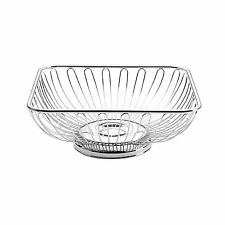 Towle Living Square Wire Bread Basket Serving Bowl Silvertone Metal NEW in Box