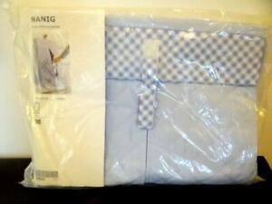 IKEA NANIG Light Baby Blue Diaper Stacker Storage Bag Holder Wall Pocket NIP