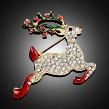 Fashion Jewelry High-Grade Christmas Deer Brooch Pin Corsage Gifts Brooches