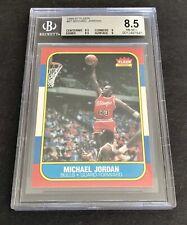 1986-87 Fleer Basketball Michael Jordan ROOKIE RC #57 BGS 8.5 NM-MT+